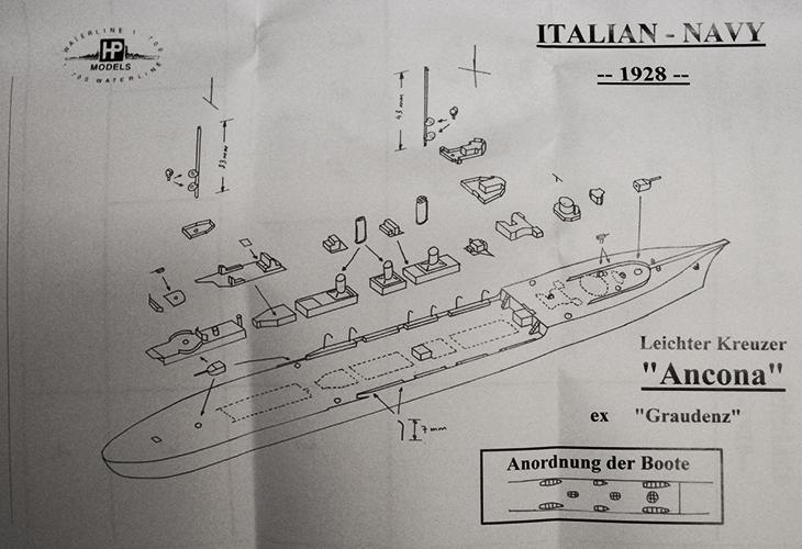 HP Models in 1/700 della RN Ancona – Istruzioni