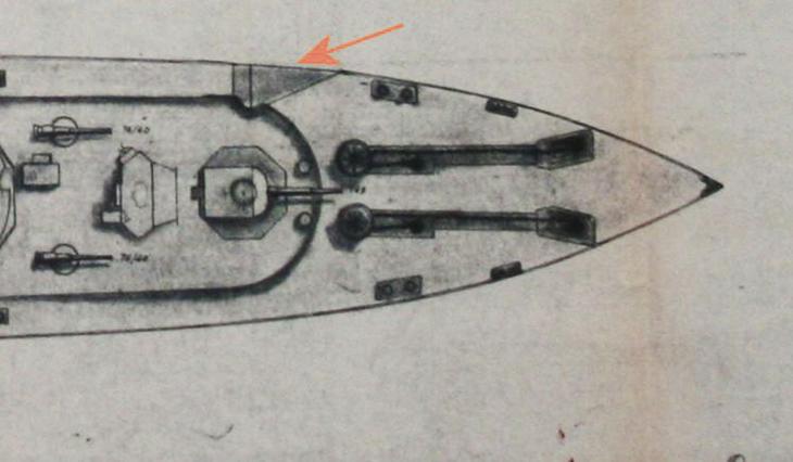 Tacca sulla prua a sinistra