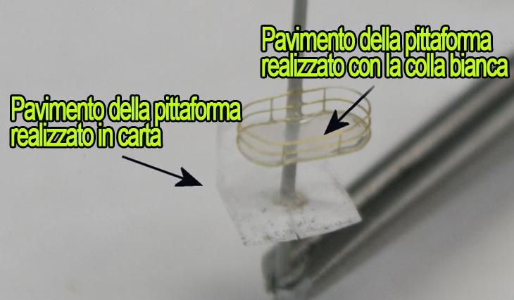 Realizzazione delle piattaforme dell'albero fatte con colla bianca